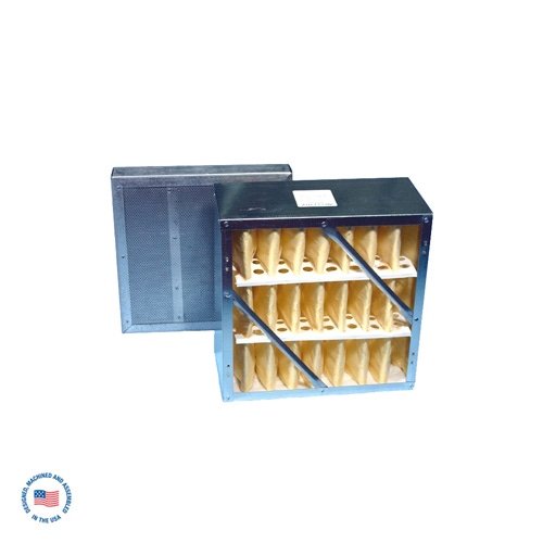 """F-987-2SP-DCL Primary Rigid Cell Filter W/ Final 2"""" Refillable Adsorption Module (DCL Blend Carbon) 1"""