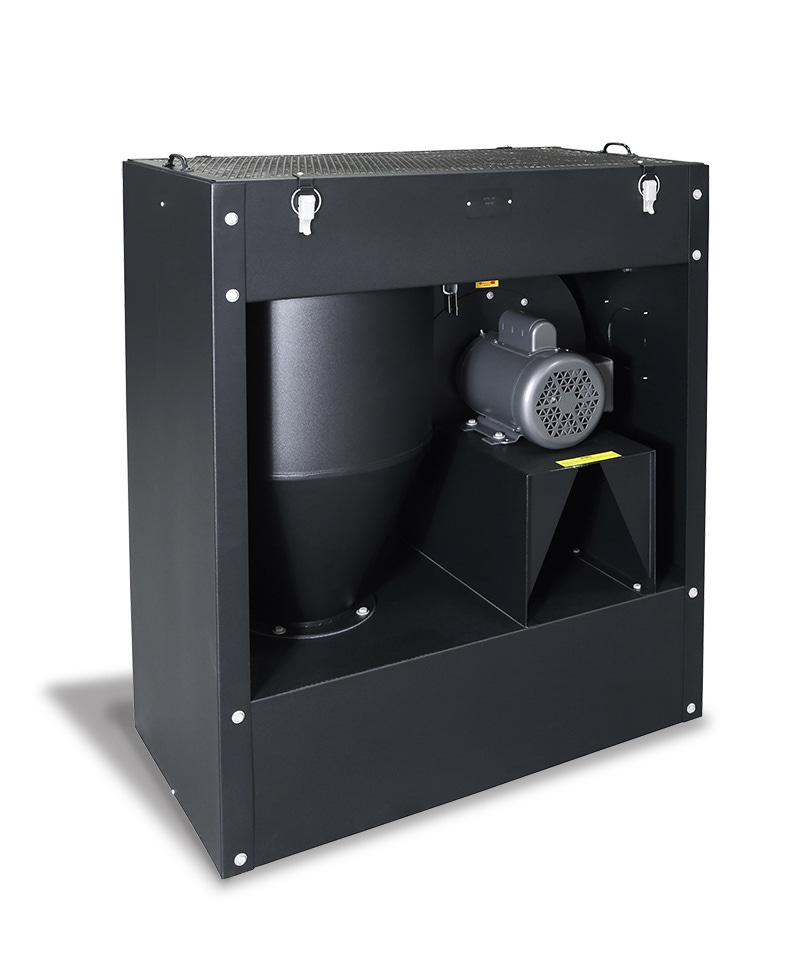 Downdraft Tables Grinding Dust MG-1100-RC Air-Recirculating Cyclone Collector - Extract All