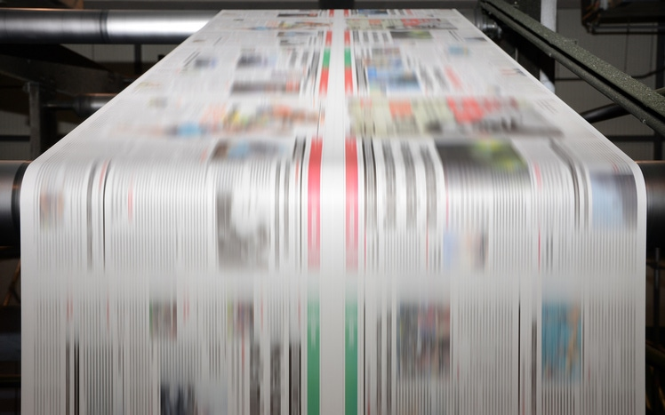 Indoor air pollution created by printing newspapers